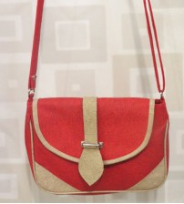 Red and Cream Ladies One Side Bag