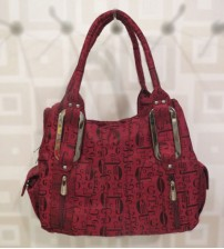 Printed Maroon Ladies Shoulder Bag