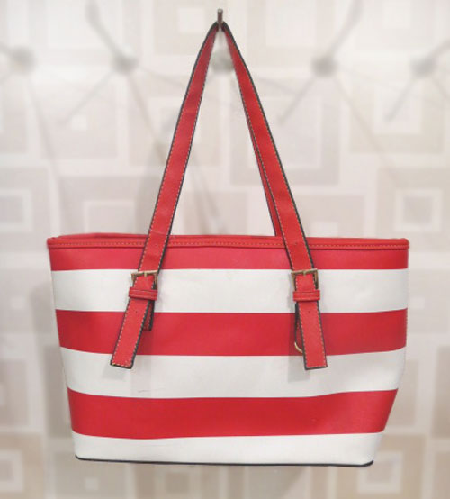 MK Red and White Ladies Shoulder Bag