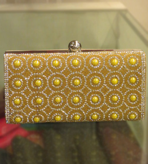 Yellow Pearl Festive,Wedding Clutch
