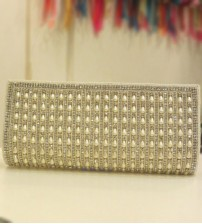 Silver Pearl Party,Wedding Clutch