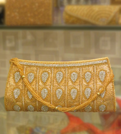 Celebrity Gold Festive & Wedding Clutch