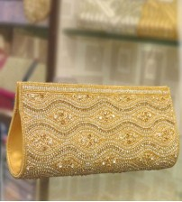 Yellow Gold Women Party Clutch