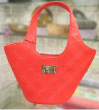 Zilleria Red Ladies Hand Bag
