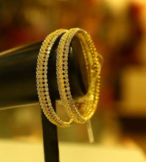 Silver and Gold Set Bangle
