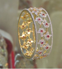 Red Stoned Bangle