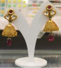 ANT Maroon Drops Earrings