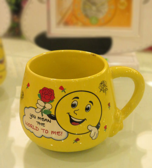 Lovable Ceramic Yellow Mug