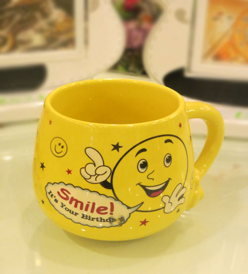Birthday Ceramic Yellow Mug