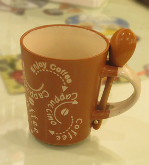 Cappuccino Coffee Mug With Spoon