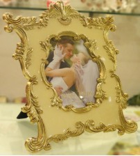 Yellow Gold Metalic Traditional Art Photo Frame