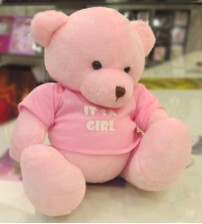 Pink Dimpy Bear For Girls