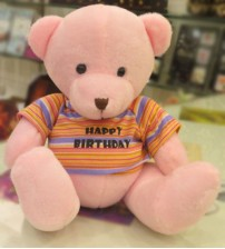 Happy Birthday Cute Pink Teddy Bear