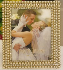 Shiny Pearls Squared Metalic Photo Frame
