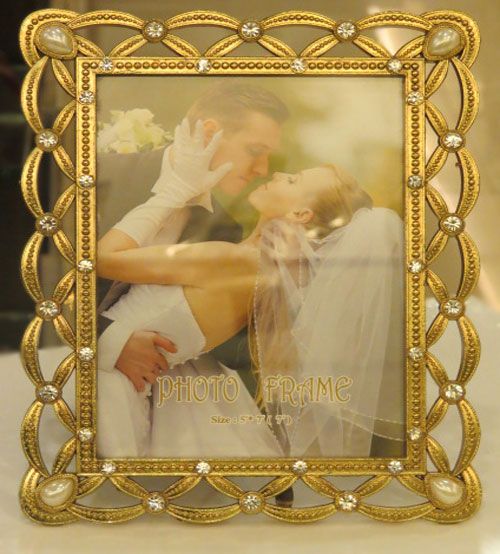 Golden Shine Metalic Photo Frame