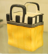 Yellow Black Square Ceramic Mug