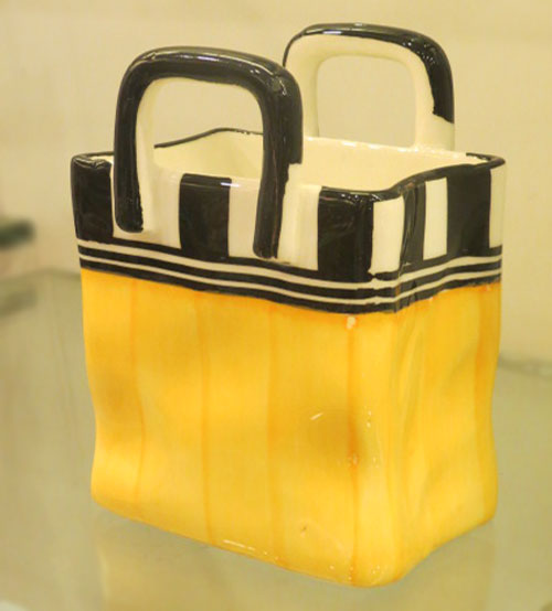Yellow Black Square Ceramic Mug