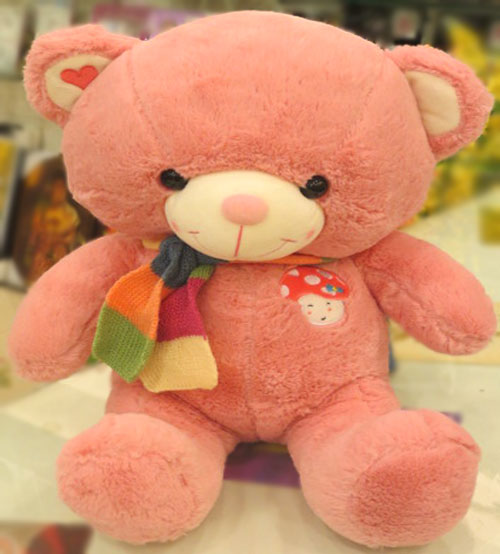 Dimpy Bear With Colourful Bow